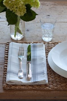 Kitchen towels for casual napkins .. simplicity | via ina garten