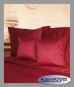 Andropol crimson satin sheets | Pościel satynowa Andropol bordowa