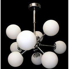 Sputnic Chrome Chandelier Atom Light Fixture