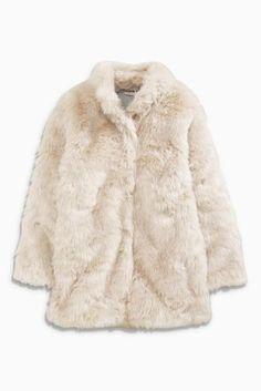 Next Girls Fur Coat ZO841f