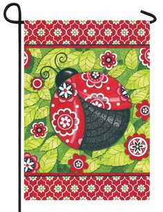 IAmEricas Flags - Floral Quatrefoil Ladybug Garden Flag, $14.00 (http://www.iamericasflags.com/floral-quatrefoil-ladybug-garden-flag/)
