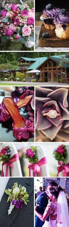 At Kiana Lodge, weddings come true in all sorts of colors. This purple and pink wedding theme is sure to be spectacular at our waterfront location. Seattle Wedding Venues, Waterfront Wedding, Pink Wedding Theme, Wedding Flowers, Lush Garden, Garden Tips, Lodge Wedding, Creative Cakes, Seasonal Decor