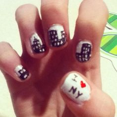 My nails that my sister did (: