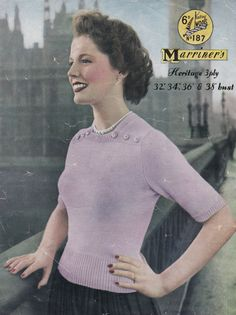Vintage 1950s Marriners 187 Ladies jumper / by vintageknitandsew