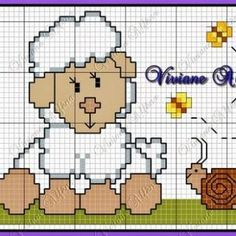 +130 Farklı Kanaviçe Örnekleri ve İşleme Şablonları - Mimuu.com Cross Stitch, Sewing, Fictional Characters, Easter, Model, Crossstitch, Dressmaking, Couture
