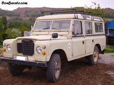 """Land Rover made by Santana in Spain. My grandfather Pepe owned a """"finca""""  so he neaded a heavy duty truck, he bought one very similar to this at the end of the 60's and keep it forever, to my best knowledge someone in the village bought in the late 90's and it is still in service."""