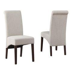Simpli Home Avalon Fabric Parsons Chair Finish: Natural