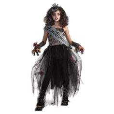 Buy Rubie's Deluxe Goth Prom Queen Costume - Large (Ages 8 to 10) for  Halloween Gifts Idea Online for  #Halloween Gifts Idea Promotion