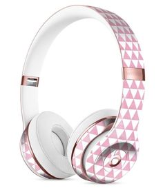 The Micro Pink Polka Dots Full-Body Skin Kit for the Beats by Dre Solo 3 Wireless Headphones