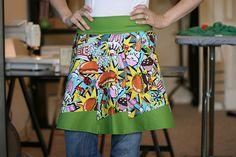 Modern quilt apron.