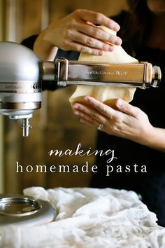The Kitchen Aid Pasta Attachments I Want To Buy Used In How To Make Homemade Pasta In Minutes Coordinately Fresh Pasta Recipes Homemade Pasta Fresh Pasta