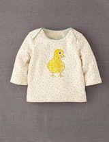 Dotty Animal Print T-shirt (Ecru Marl/Chick)
