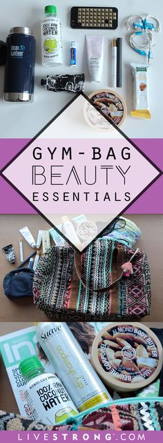 12 Beauty Essentials for Your Gym Bag Beauty Essentials, Gym Bag Essentials, Yoga Fitness, Fitness Tips, Fitness Motivation, Health Fitness, Fitness Gear, Gym Tips, Move Your Body