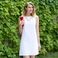 Photo by Style Blogger Kimberly Smith of Penny Pincher Fashion | Charming Charlie | #charmingcharlie | #cctyle | #handbag #necklace #whitedress #ootd #fashion #StyleWatchXCC