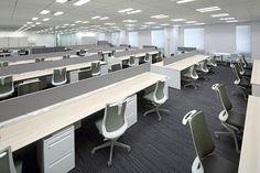 経営企画部門オフィス 2 Futuristic Interior, Luxury Office, Desk Areas, Open Office, Office Workspace, Ceiling, Table, Furniture, Home Decor