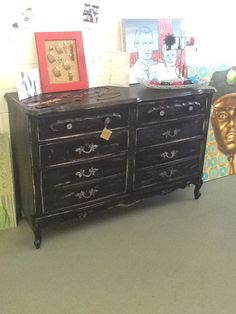 Hand painted and distressed dresser