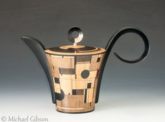 Deco-Tea A collaboration between Michael Gibson and Louis Vadeboncoeur Available from Thomas R. Riley Galleries, Cleveland, Ohio