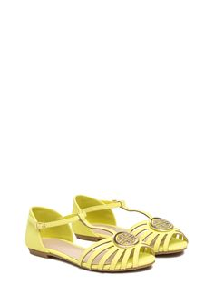 Greek Key Player Strappy Sandals