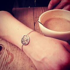 """Last creation !!! #perfectpresent #personalised #30' #bday #forher #bracelet #gold #18k #hername #handmade #uniquejewel #belgiandesigner #naguykashanejewelry"