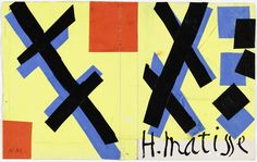 "Henri Matisse. Design for cover of ""Matisse: His Art and His Public"". (1951)"