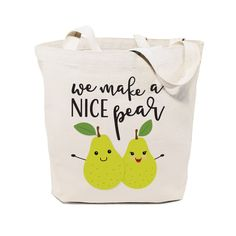 Cotton Canvas We Make A Nice Pear Tote Bag – The Cotton and Canvas Co.