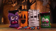 This class with Rad Megan teaches you to make Trick or Treat bags as part of a homemade Halloween costume. Use felt, scissors and a sewing machine you can make your very own felt fiend, mummy or jack-o-lantern as a kids Halloween costume idea. - Creativebug