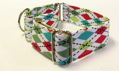 Argyle Adjustable Martingale Dog Collar - Made to Order - by JinsK9Kreations on Etsy