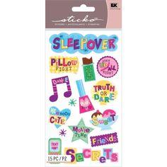 Sticko SLUMBER FUN Stickers SLEEPOVER GIRLS FRIENDS BFF PARTY