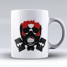 Limited Edition Halloween Mug - Gas Mask - 11oz