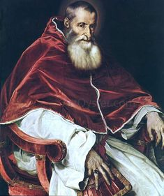 Titian Portrait of Pope Paul III hand painted oil painting reproduction on canvas by artist Pope Paul Iii, Sainte Marie, Oil Painting Reproductions, Portrait, My Eyes, Beautiful Pictures, Artsy, Hand Painted, Canvas