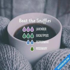Beat the Sniffles - Essential Oil Diffuser Blend #aromatherapyrecipes