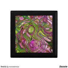 Swirls Keepsake Box #Swirl #Decorative #Design #Home #Decor #Zazzle #Keepsake #Trinket #Jewelery #Gift #Box
