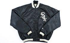 Vintage Satin Starter Chicago White Sox Jacket Sz XL