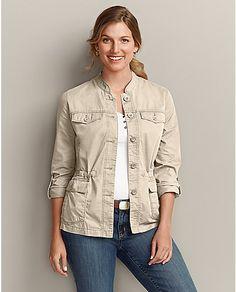 Textured Cotton Weekend Jacket | Eddie Bauer