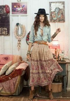╰☆╮Boho chic bohemian boho style hippy hippie chic bohème vibe gypsy fashion indie folk the . Looks Hippie, Look Hippie Chic, Boho Chic, Estilo Hippie Chic, Look Boho, Gypsy Look, Modern Hippie Style, Hippy Style, Modern Boho