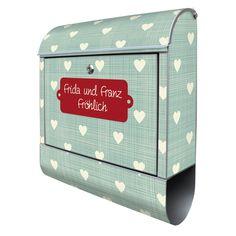 Briefkasten mit Wunschtext   banjado Manufaktur Diy Design, Decorative Boxes, Etsy, Craft Gifts, Stainless Steel, Patterns, Decorative Storage Boxes