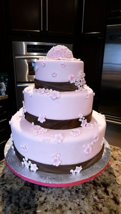 Cherry Blossom Wedding Cake - 2nd By mbakeshop on CakeCentral.com
