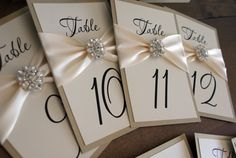 pretty table numbers