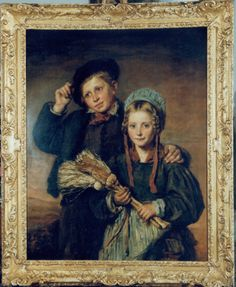 Andrew Geddes - A Portrait of a Brother and Sister   1stdibs.com