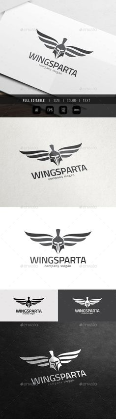 Sparta Wing Helmet Armour War Game - Logo Design Template Vector #logotype Download it here: http://graphicriver.net/item/sparta-wing-helmet-armour-war-game/12319463?s_rank=1232?ref=nexion