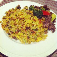 残りもののナムルや挽肉、キムチをいれてのピリ辛炒飯。 - 27件のもぐもぐ - ビビンバ炒飯 by raycheal