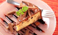 Slice of nut cake with chocolate icing :)