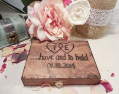 Southern Chic Rustic Wooden, Wedding Ring Pillow, Ring Bearer Box, We Do Box, FOR Rustic Wedding