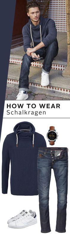 Das Design ist slim-fit – der Schalkragen dafür umso üppiger! Der coole Pullover von Bruno Banani ist ein hervorragendes Casual-Basic für den Herbst und Winter. Überlege nicht lange, was dazu passen könnte: Jeans und die Stan Smith von adidas natürlich!