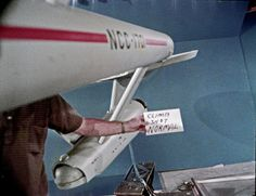 Another model shot, this of my favourite of the various series ships, the Original Enterprise. They had a few different models, this was the biggest. Climb Shot Normal by birdofthegalaxy, via Flickr