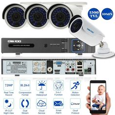 G.PLAZE - Top Deals: Kamera Videoüberwachung KIT 4CH AHD 1080N/720P 150...