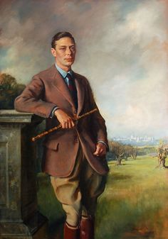 """holdhard: """"Portrait of King George VI - Sir Oswald Birley """" George Vi, Prince, Commonwealth, Sandringham House, Norfolk, Adele, Lady Elizabeth, Queen Mary, Queen Mother"""