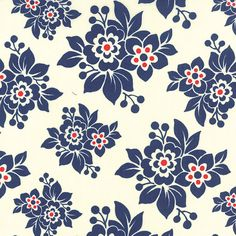 Milk Cow Kitchen by Mary Jane for Moda, navy