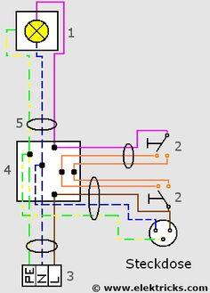schaltplan f r wechselschaltung und wechselschalter elektrik pinterest electronic. Black Bedroom Furniture Sets. Home Design Ideas