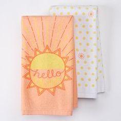 "Celebrate Easter Together ""Hello Sunshine"" Kitchen Towels - 2 pk."